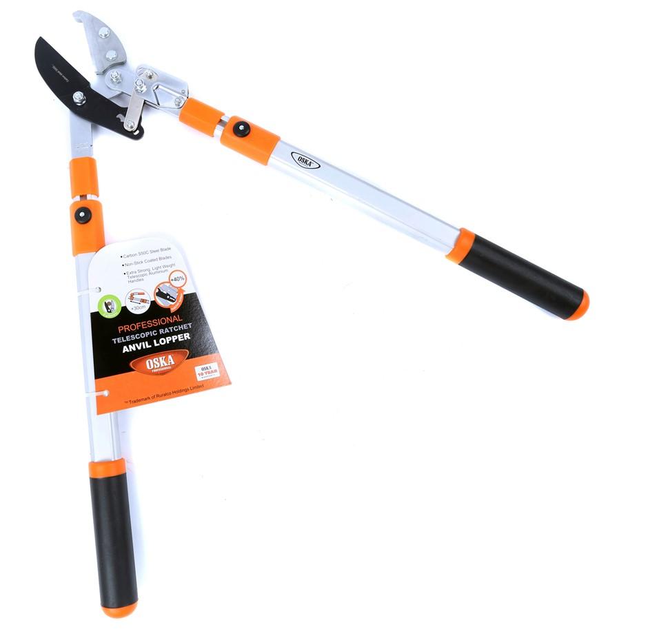 OKSA Anvil Ratchet Lopper with Telescopic Aluminium Handle. Buyers Note - D