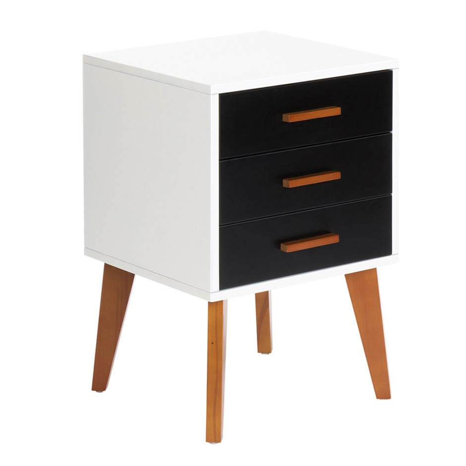 Artiss Bedside Table Cabinet Matt - Black