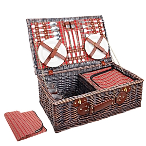 Alfresco 4 Person Picnic Basket with Coo