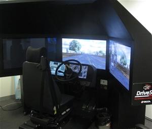 Driver Training Simulator unit, Serial No  V54-08-122, Model No  UTO4035,