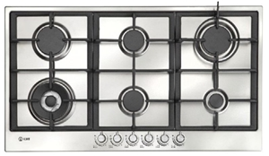 Ilve 90cm 6 Burners Stainless Steel Gas