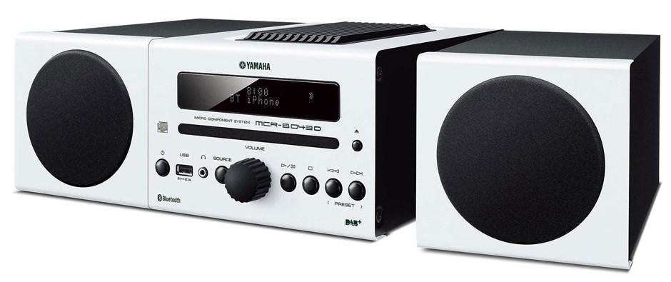 Yamaha MCR-B043D Mini HiFi System (White)