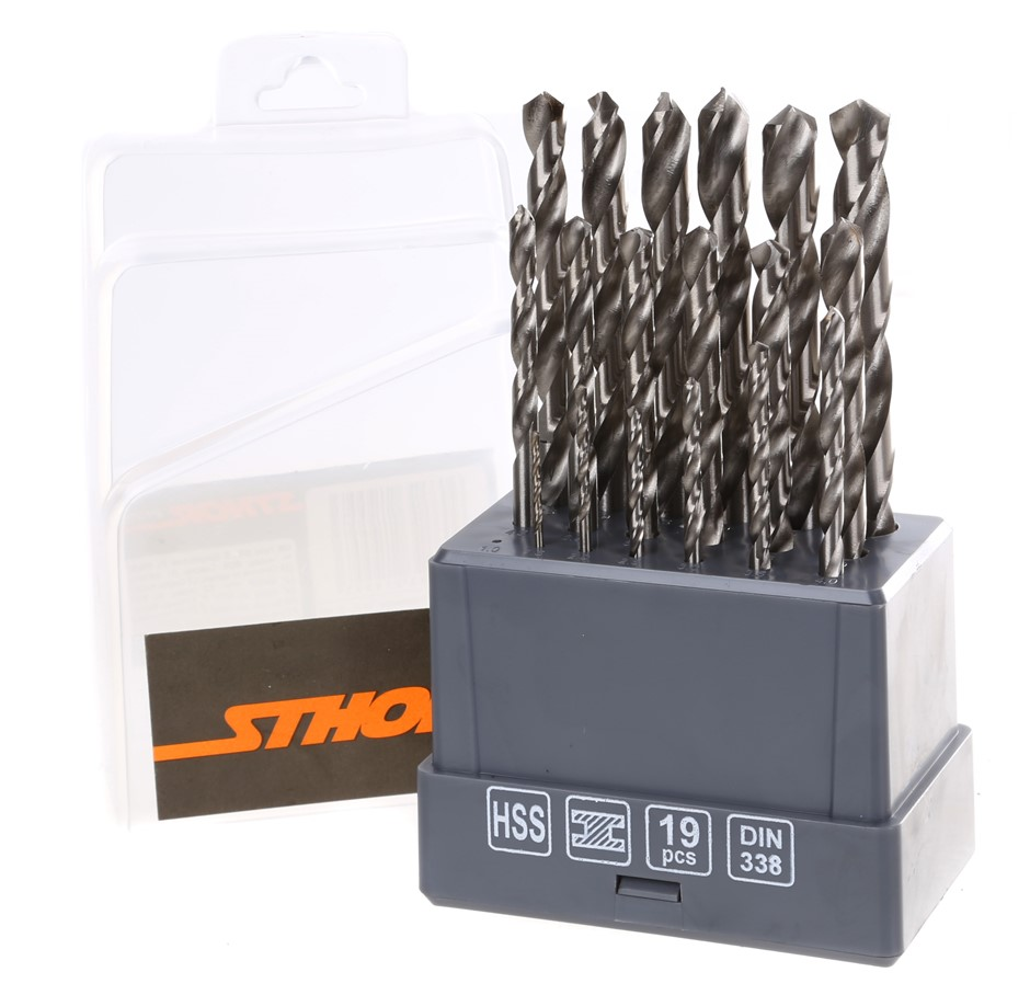 STHOR 19pc HSS Drill Set 1mm to 10mm. Buyers Note - Discount Freight Rates