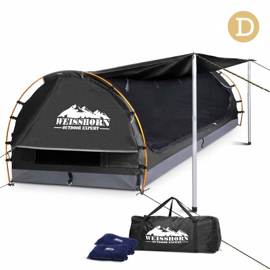 Weisshorn Double Size Dome Canvas Tent - Dark Grey