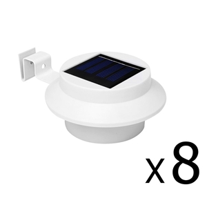 8 x Solar Gutter Light