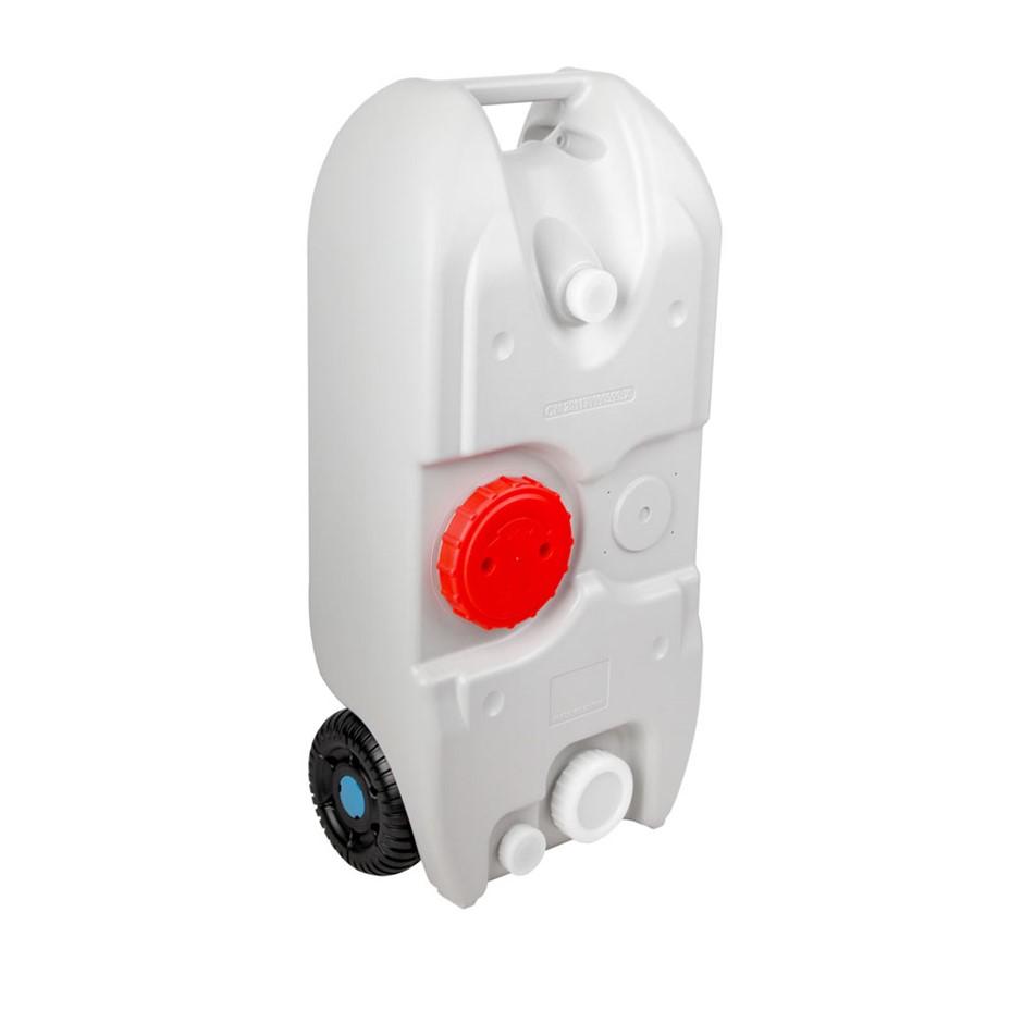 Weisshorn 40L Portable Wheel Water Tank - Grey