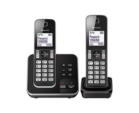 Panasonic KX-TGD322ALB Cordless Phone with Answering Machine