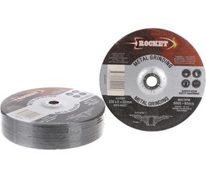 10 x Metal Grinding Discs 230 x 6 x 22mm