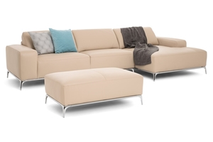 Artemide Sofa With Chaise Ottoman Made In Italy By