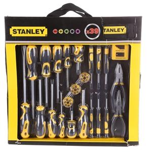 stanley 39pc screwdriver set c w bits pliers magnetiser nylon carry case auction. Black Bedroom Furniture Sets. Home Design Ideas