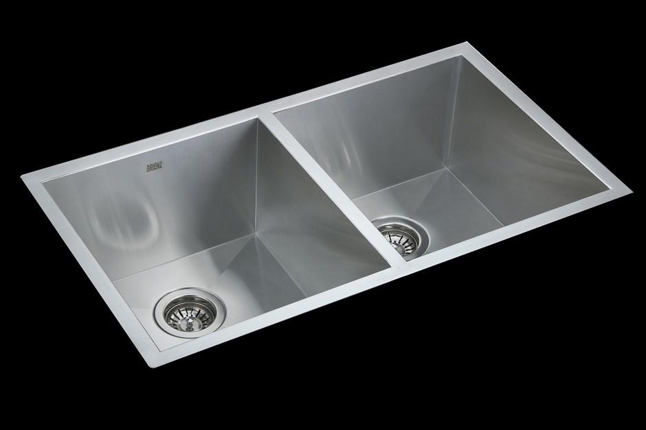 820x457mm Handmade Stainless Steel Undermount / Topmount Kitchen Laundry
