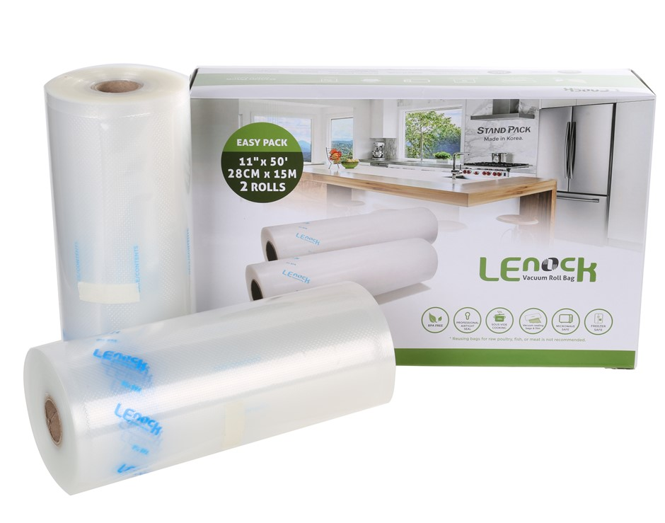 2 Rolls x LENOCK Vacuum Seal 28cm x 15M each Compatible with Most Household