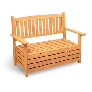 Gardeon 2 Seat Wooden Outdoor Storage Be