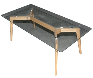 Glass top coffee table timber frame 120cm x 60cm 234351 for Coffee table 60cm x 60cm