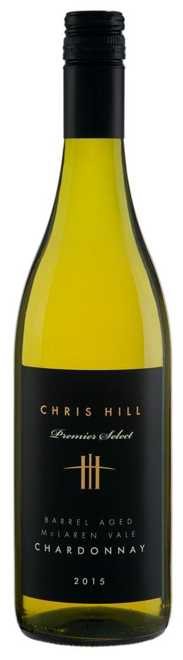 Chris Hill Premier Select Chardonnay 2015 (12 x 750mL),McLaren Vale, SA.