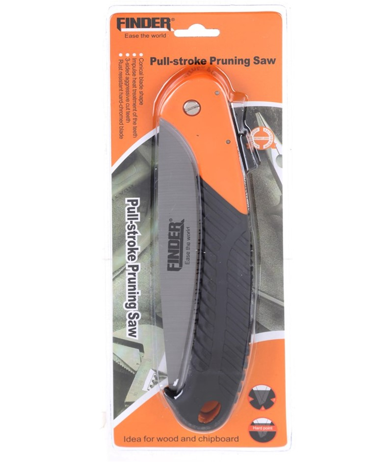 2 x FINDER Pull-Stroke Pruning Saws with Rubber Grip Handle. Buyers Note -