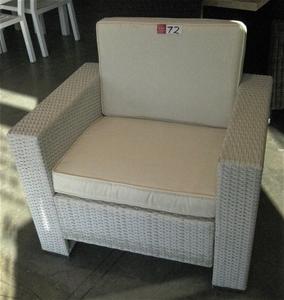 White Wicker Chair With Grey Cushion Auction 0072 3001553Wicker Chair Repairs Brisbane   Wicker Patio Furniture. Rattan Chair Repairs Brisbane. Home Design Ideas