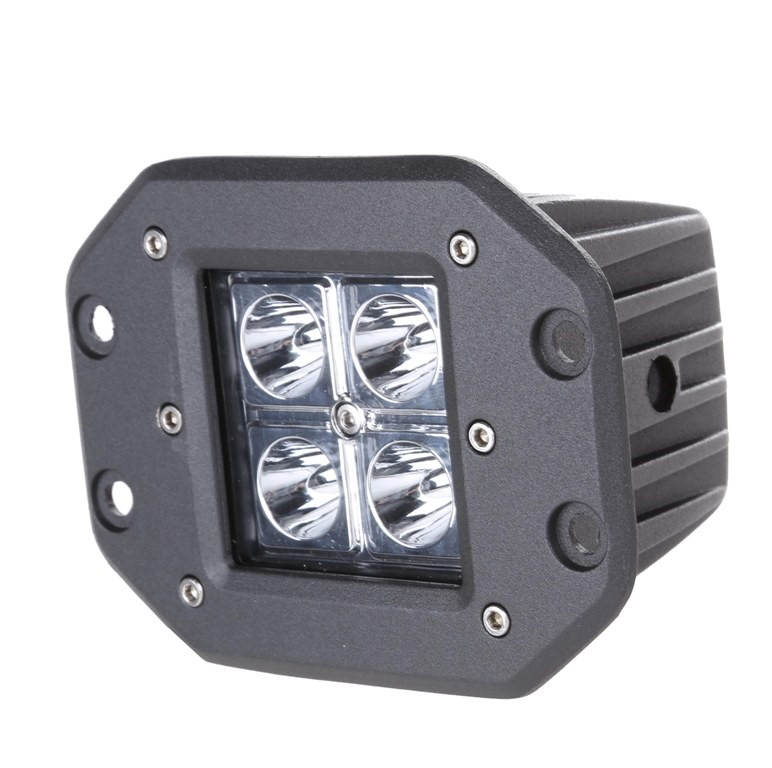 JMV 16W CREE LED Spot Light, Flush Mount c/w Stainless Steel Bolts, Cast Al