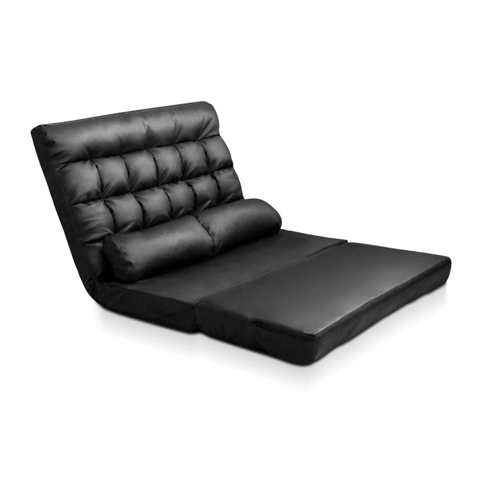 Double Size Adjule Lounge Sofa 10 Positions Pu Leather