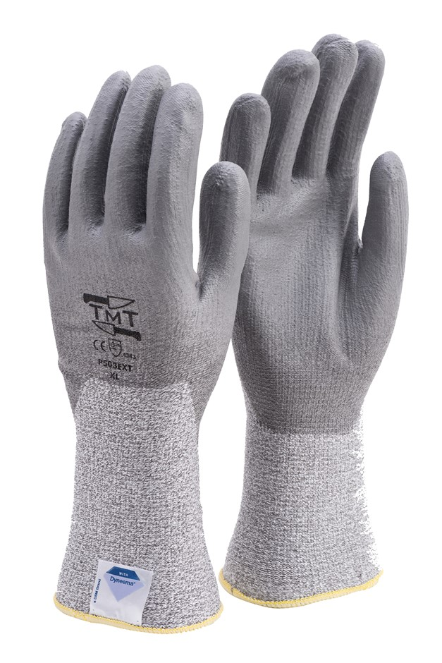 12 Pairs x Dyneema Knitted Gloves, Size L, with PU Anti-Slip Palm Coating,