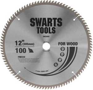 """Swarts Tools 305mm 12"""" 100 Tooth Tungste"""