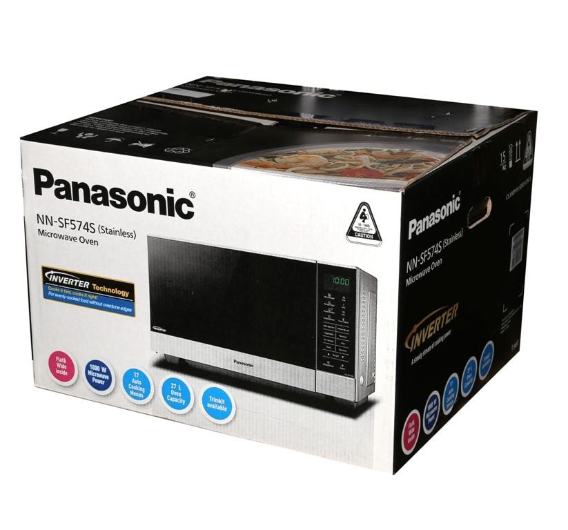 PANASONIC Stainless Steel Microwave Oven, Model NN-SF574S. (SN:CC9164) (278