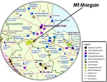 Mount Morgan Location Map