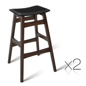 Artiss Set of 2 Wooden and Padded Bar St