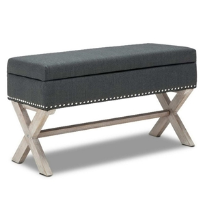 Stupendous Buy Seat Footstool Bench Stool Storage Ottoman Grey Creativecarmelina Interior Chair Design Creativecarmelinacom