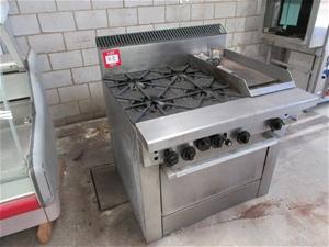 Stainless Steel Commercial 4 Burner Stove Single Burner