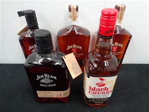 Qty 5 x assorted jim beam whiskey auction 0035 7016526 for Jim beam signature craft for sale