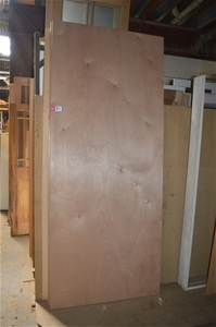 Entry door quantity 2 solid core flush door spotted gum for Solid core flush door price