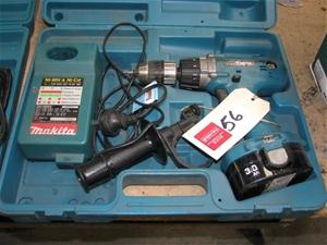 Cordless drill, Makita, Drill Driverr, Model 6343D, 16 torque settings, 13m