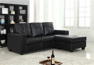 Modern Nowra Black Sofa with Chaise