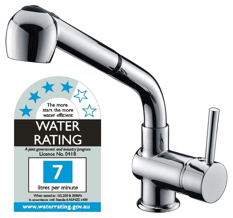 Kitchen Basin Mixer Tap Faucet w Extendable Spray  Laundrykitchen auctions brisbane   Graysonline. Bathroom And Kitchen Auctions Melbourne. Home Design Ideas