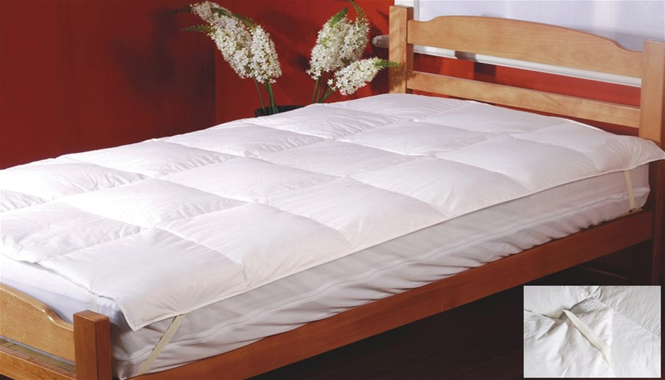100% White Duck Feather Mattress Topper -Single