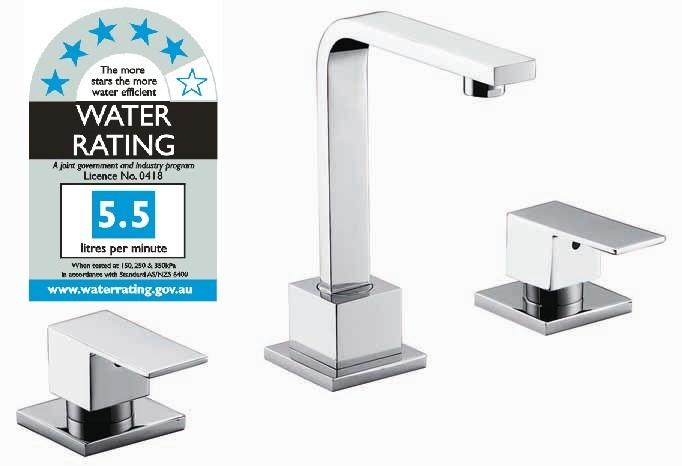 3pc Basin Tap Faucet Set Bathroom Laundry Sink