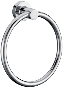 Classic Chrome Towel Bar Rail Ring Bathr