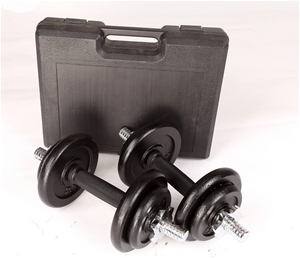 20kg Black Dumbbell Set with Carrying Ca