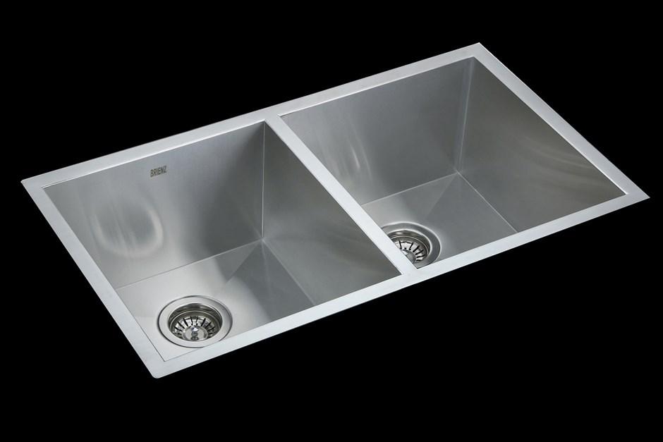 820x457mm Stainless Steel Undermount/Topmount Kitchen Laundry Sink w Waste