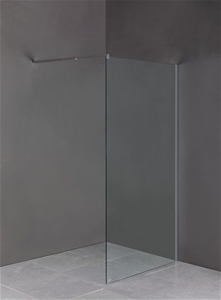 1100 x 2100mm Frameless 10mm Safety Glas