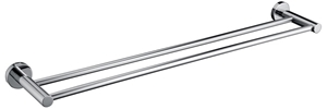 Double Classic Chrome Towel Bar Rail Bat