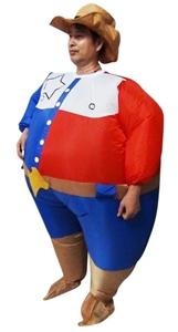 SHERIFF Fancy Dress Inflatable Suit -Fan