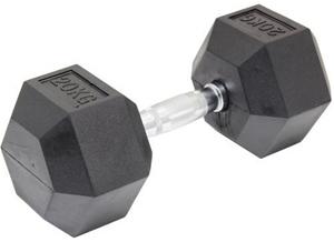 20KG Commercial Rubber Hex Dumbbell Gym