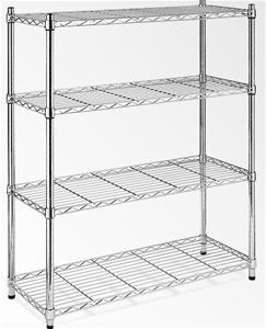 Modular Chrome Wire Storage Shelf 900 x