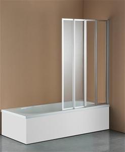 4 Fold Chrome Folding Bath Shower Screen