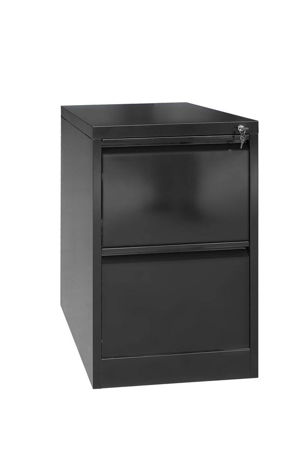 2 Drawer Shelf Office Gym Filing Storage Locker Cabinet