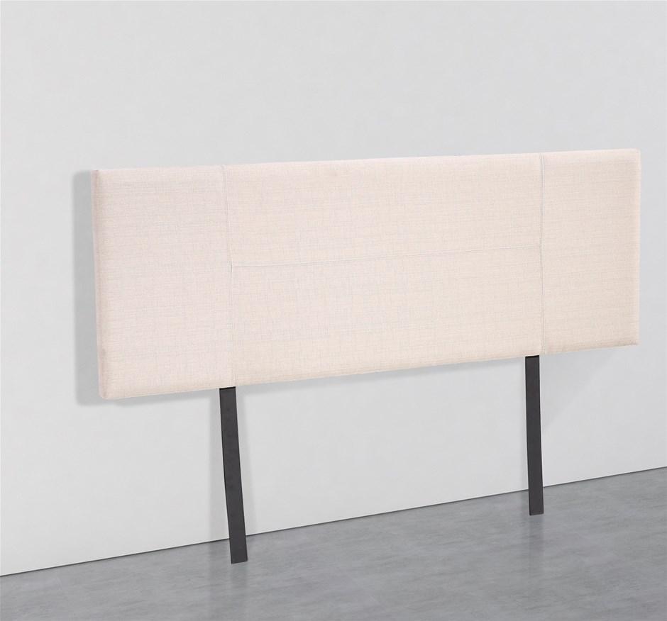 Linen Fabric Queen Bed Headboard Bedhead - Beige