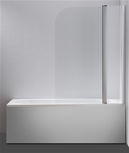 180° Pivot Door 6mm Safety Glass Bath Sh