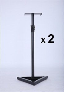 2X PA Studio Monitor Speaker Floor Stand